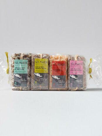 Quartet of Our Aromatic Guerande Sea Salt certified Organic