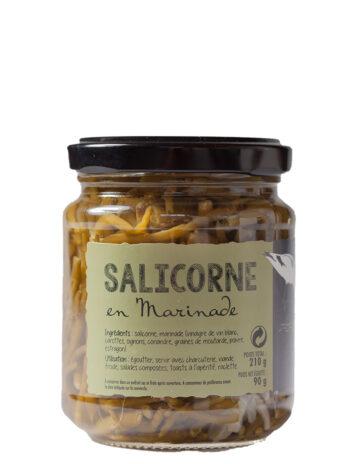Marinated Samphire in Organic Vinegar. – 210g Jar